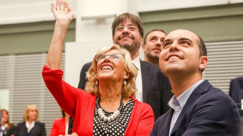 Manuela Carmena en el Pleno de investidura que perdió. Foto: Europa Press