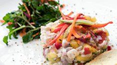 Receta de Ceviche de lubina y langostinos
