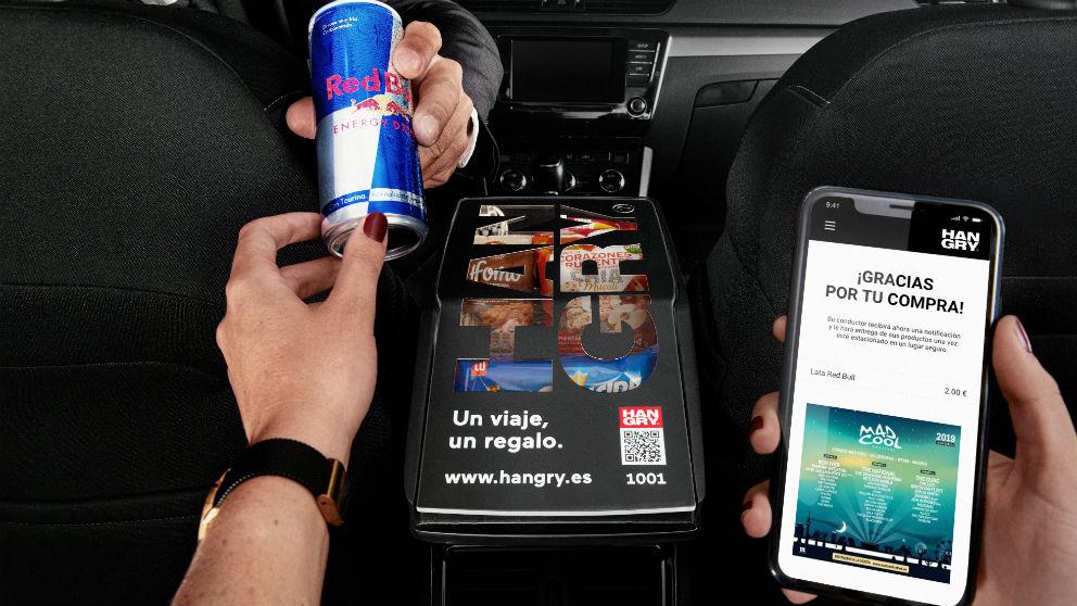 Productos para el consumo en los coches de Cabify (Foto: Hangry)