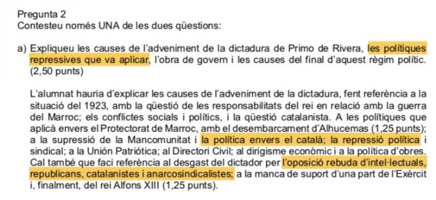 La Generalitat obliga a los alumnos de la Selectividad a loar a los que