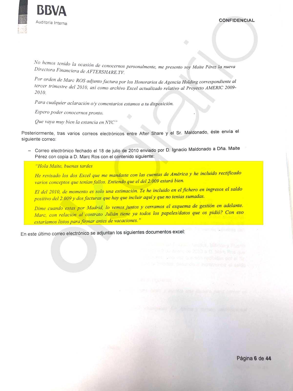 Los emails delatan la complicidad de la sociedad de Risto con la trama de corrupción