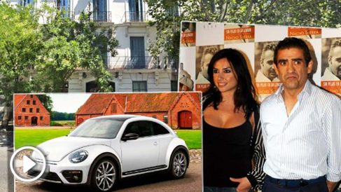 Marta Flich y Jaime Martínez Bordiú, junto a un VW Beetle como el que el nieto de Franco regaló a la presentadora.