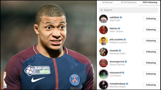 El movimiento de Mbappé en Instagram que ilusiona a los fans del Liverpool