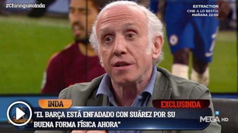Luis Suárez no ha sido muy profesional con el Barcelona en las últimas fechas.