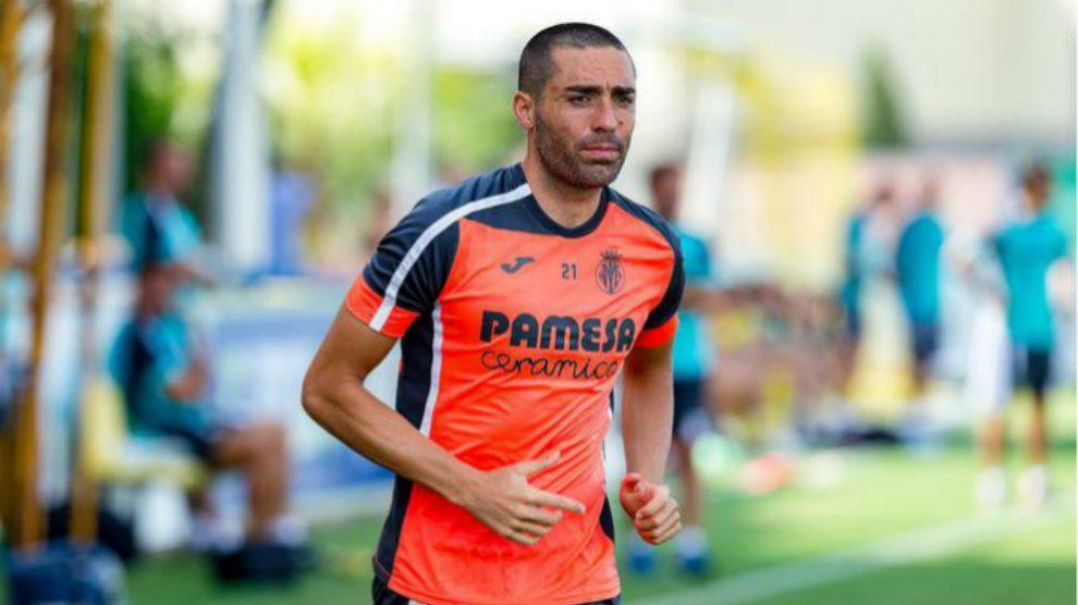 Bruno Soriano en un entrenamiento con el Villarreal (Villarreal Club de Fútbol)