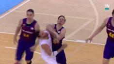 Heurtel debió ser expulsado tras un doble codazo a Rudy Fernández.
