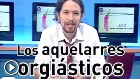 Vídeo de Anticapitalistas en el que Iglesias recuerda los «aquelarres orgiásticos» en los campamentos de la 4ª Internacional.