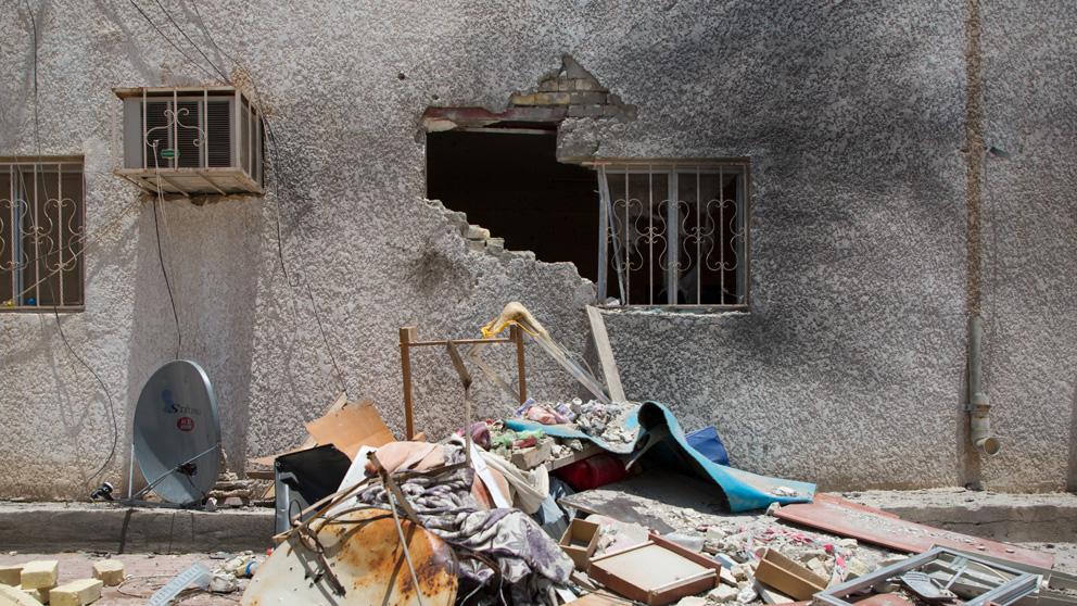 Ataque a una instalación en Basora, Irak (Foto: AFP)