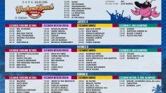 Los horarios del Weekend Beach Festival.