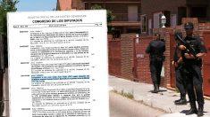 Uno de los registros a la supuesta célula de financiación de Al Qaeda desarticulada en Madrid,