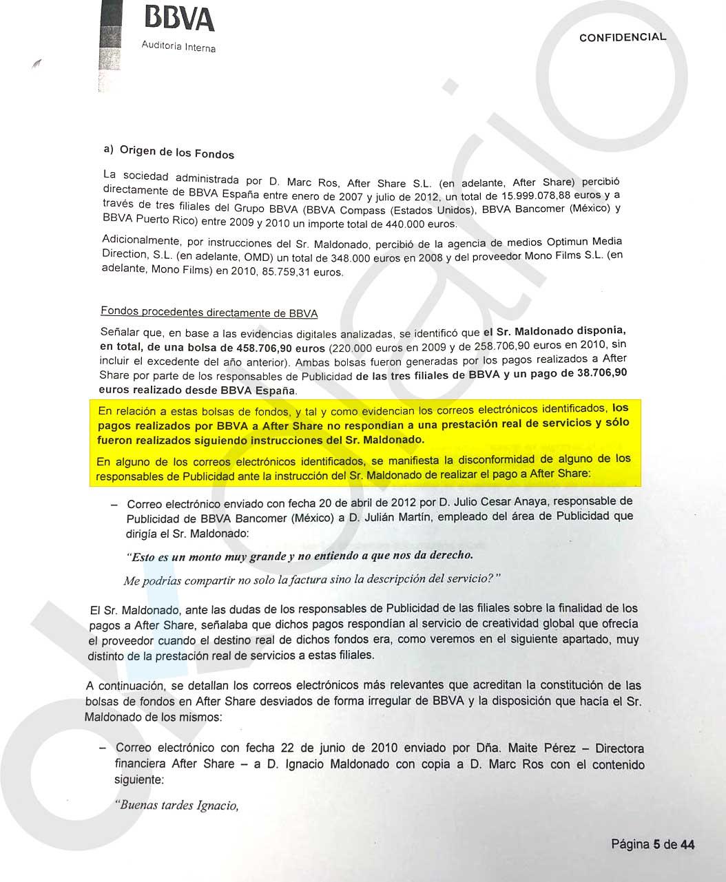 BBVA pagó 16,5 millones a Risto por servicios que su empresa sobrefacturaba y además no hacía