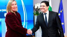 Federica Mogherini y Nasser Bourita (Foto: AFP)