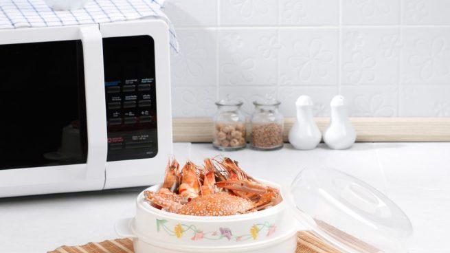 cocer el marisco en el microondas