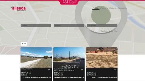 Página web de Aliseda Inmobiliaria