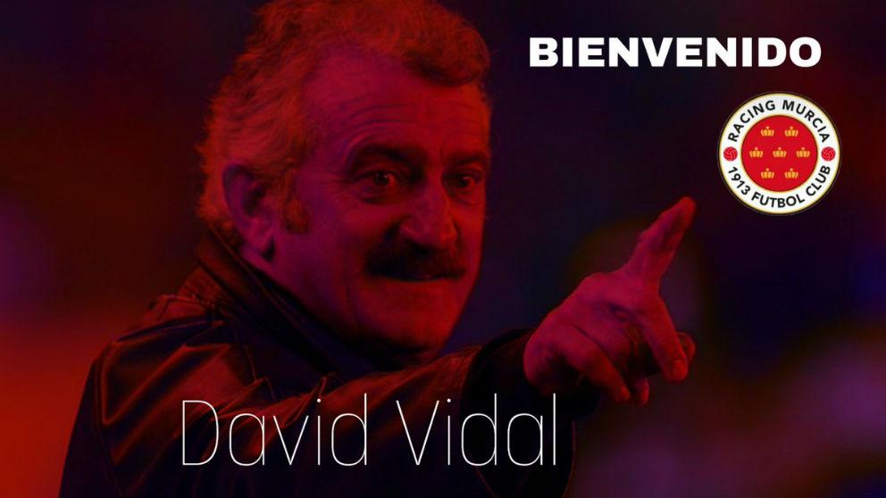 David Vidal, nuevo entrenador del Racing Murcia.