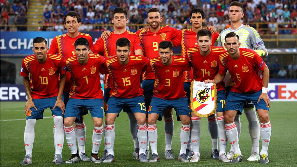 El-once-con-el-que-España-debutó-ante-Italia-en-el-Europeo-Sub-21-(Getty)