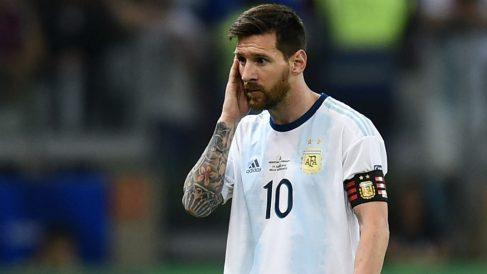 Messi, en el partido de Argentina contra Paraguay. (Getty)