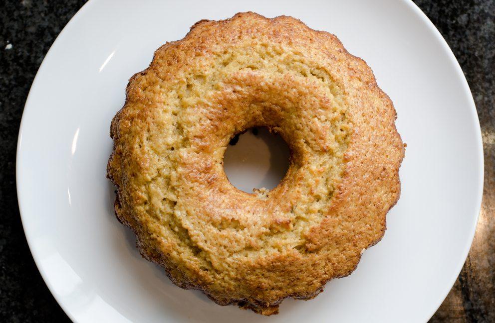 Receta de Bundt Cake de plátano