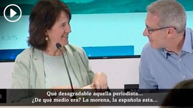 La presidenta de la ANC desprecia a una periodista: «Qué desagradable, la morena… ¡la española esta!»