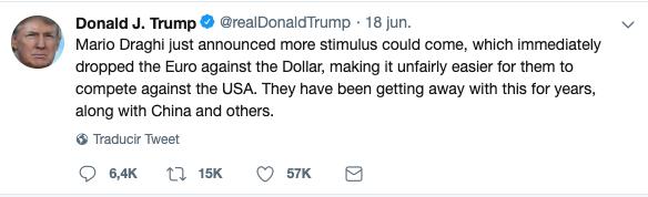 Así mueve Trump los mercados a golpe de Tweet
