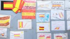 Mural de apoyo a la niña de 10 años supuestamente agredida en Tarrasa por una profesora @Twitter