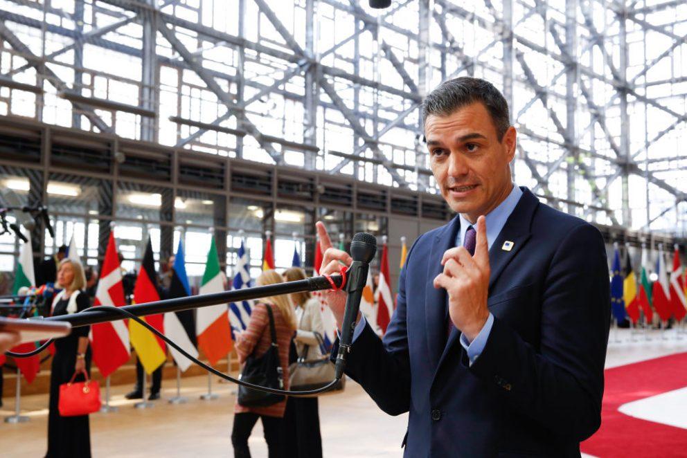 Pedro Sánchez, en Bruselas.