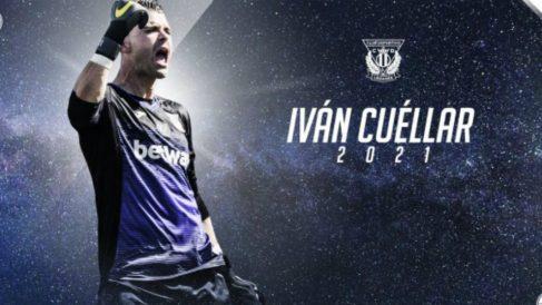 Iván Cuéllar renueva con el Leganés hasta 2021 (CD Leganés)