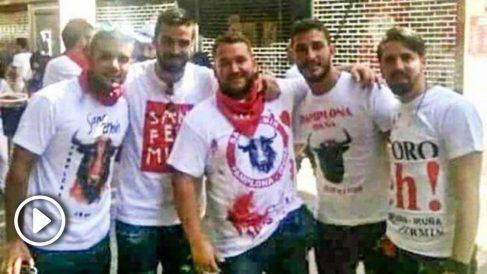 Los cinco amigos de 'la Manada'.
