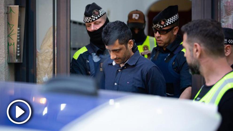 Uno de los detenidos en la redada en Barcelona @EP