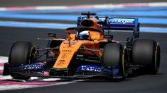 Carlos Sainz durante la clasificación del GP de Francia de Fórmula 1. (AFP)