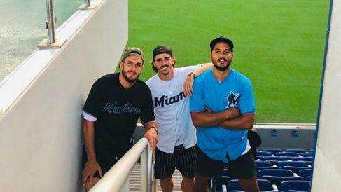 Koke y Griezmann, de vacaciones en Miami.