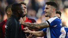 Mario Hermoso en un partido contra el Sevilla (AFP)