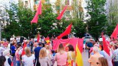 Concentración contra la política de pactos del PSN en Navarra (Foto: EP)