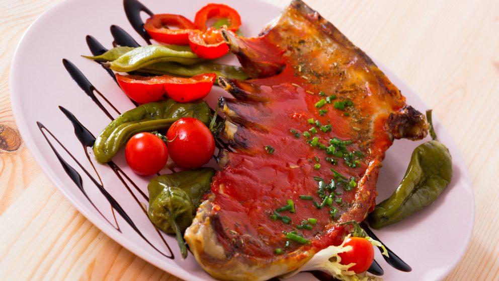 Receta de Filetes de ternera en salsa de tomate