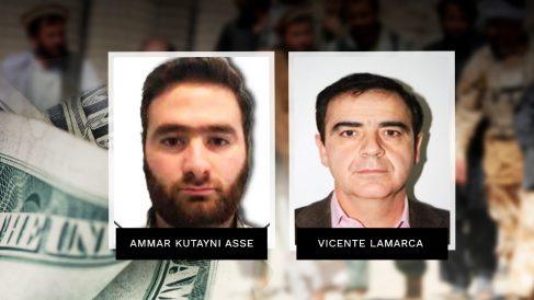 El yihadista Ammar Kutayni Asse, detenido el martes en Madrid, y el narcotraficante Vicente Lamarca.