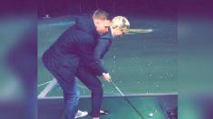 Facebook: Una romántica lección de golf casi le deja en coma