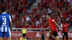 El Mallorca celebra su ascenso a la Liga Adelante.