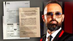 El publicista y presentador Risto Mejide, junto a algunos de los documentos que prueban la participación de su empresa en la trama corrupta del BBVA.