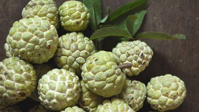 La chirimoya contiene aproximadamente un 20% de carbohidratos.