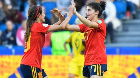 Las jugadoras de la selección española durante el pasado Mundial Femenino. (AFP)