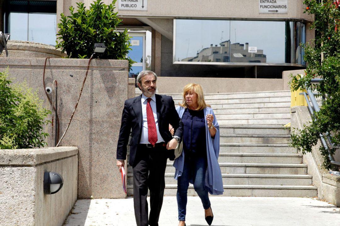 La aristócrata Cristina Ordovás Gómez-Jordana, viuda de Juan de Goyeneche, a su salida del juicio en la Audiencia Provincial de Madrid @EFE