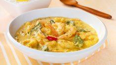 Receta de lenguado al curry