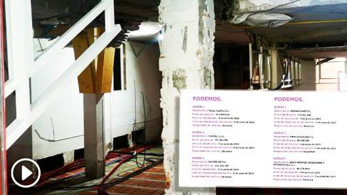 Obras en la nueva sede de Podemos
