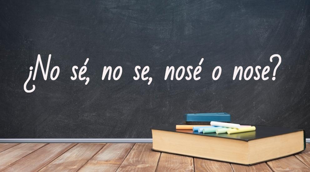 Se escribe no sé, no se, nosé o nose