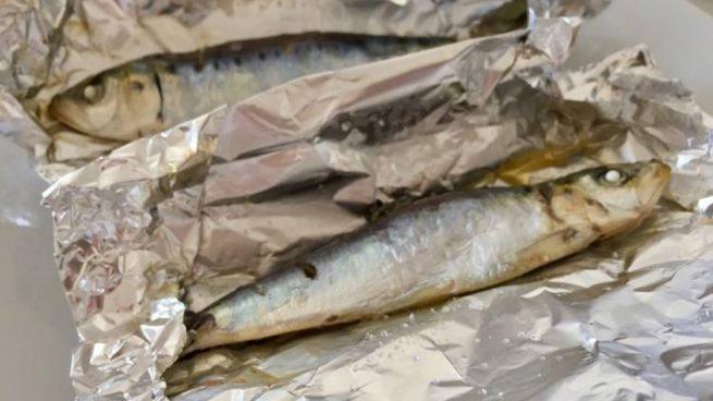 sardinas en papillote