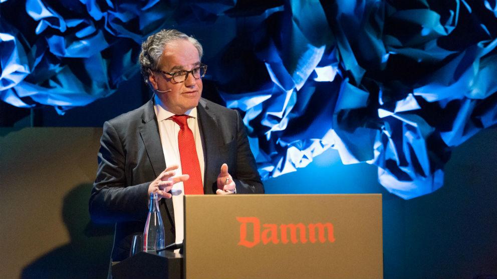 Demetrio Carceller Arce, Presidente Ejecutivo de Damm, durante la Junta de Accionistas (Foto: Damm)