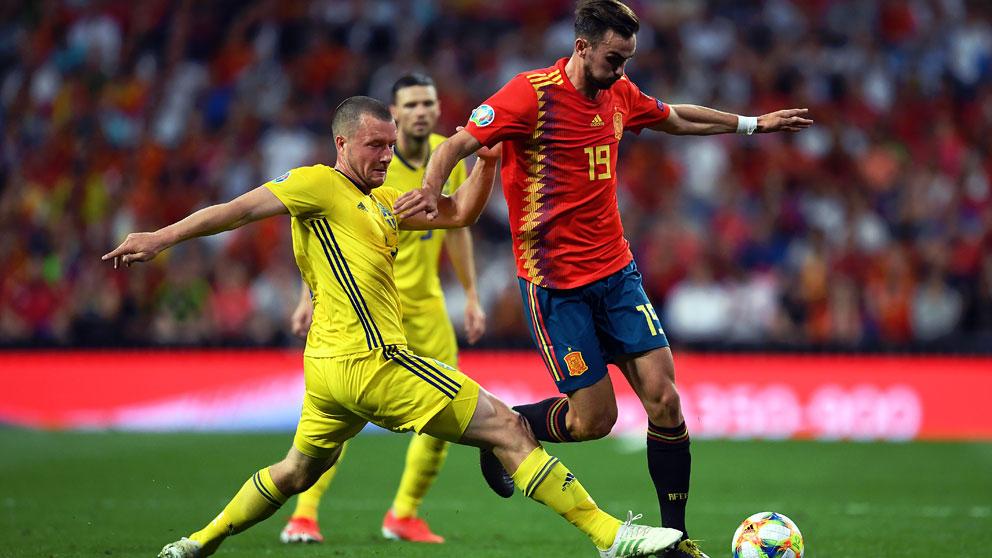 Fabián-Ruiz,-durante-el-partido-de-clasificación-de-la-Eurocopa-2020-ante-Suecia-en-el-Santiago-Bernabéu-(Getty)