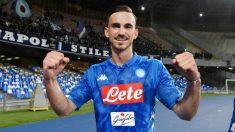 Fabian Ruiz, en un partido con el Nápoles. (Getty)