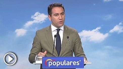 Teodoro García Egea en rueda de prensa. Foto: Atlas