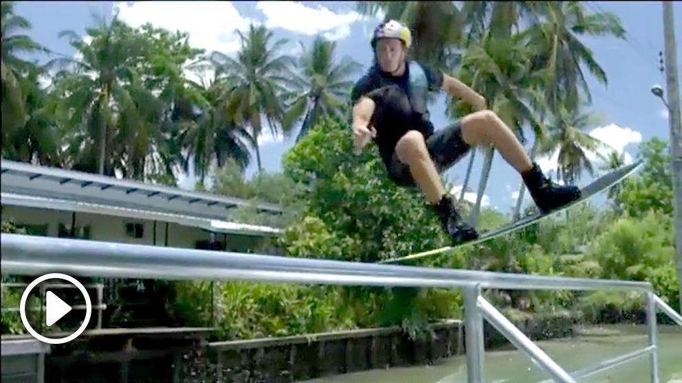El campeón mundial de esquí acuático, Dominik Guhrs.